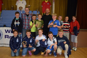 Trophy Day 2015: U11 Warriors - Coach Martyn Beck and Manager Dan Wheatley back row