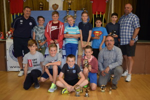 Trophy Day 2015: U12 Trojans - Coach Sean Crooke and Manager Andy Elton, back row