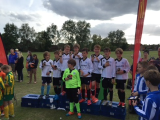 Victorious U10 Dinamo, Winners of the GPR U10 Junior Plate, June 2015