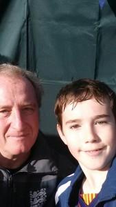 Ray Lewington and Jacob (U12 Warriors) selfie