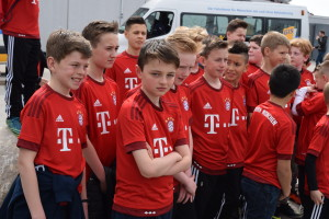 Marc and Jack in Their Replica Bayern Shirts, Provided by Coerver