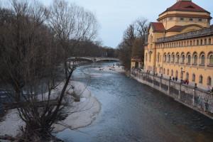 The Isar River That Flows Through Munich