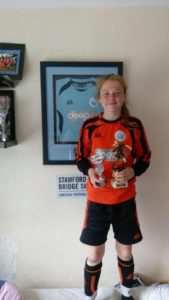 Former Warrior Emily With Her Kingstonian Cup Award