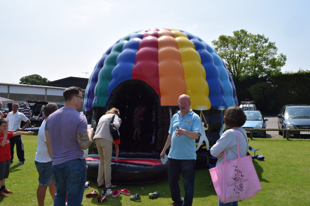 Many Thanks to Paul Growdon, U11 Dinamo Manager, For The Disco Dome and Other Inflatables