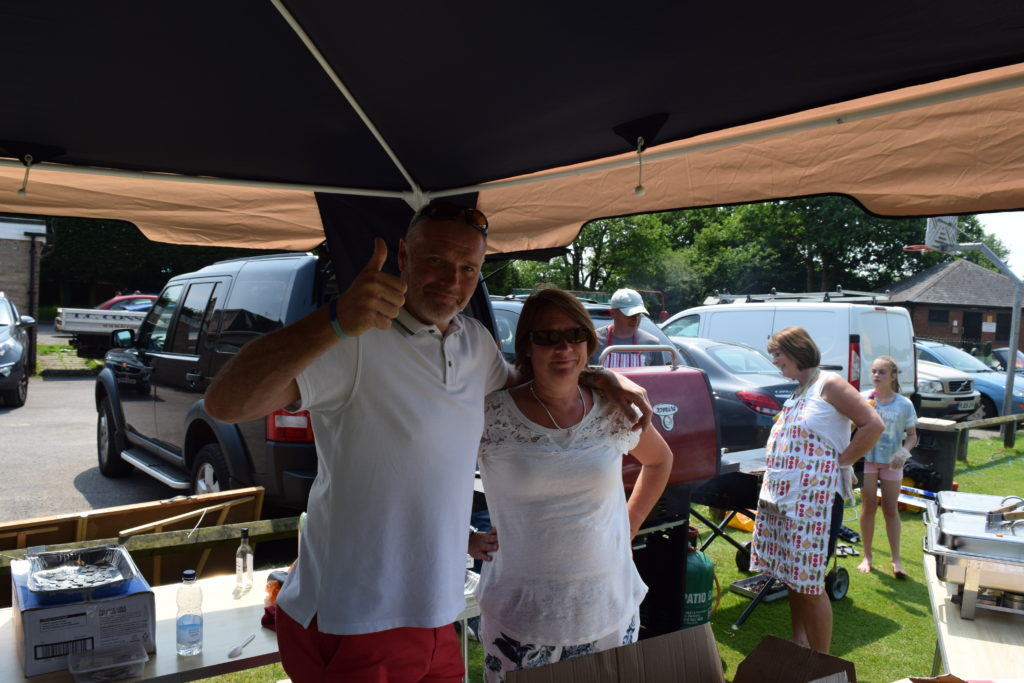 Colin and Andrea Hobson (U12 Warriors), Owners of Cardwells Cafe On the Green!