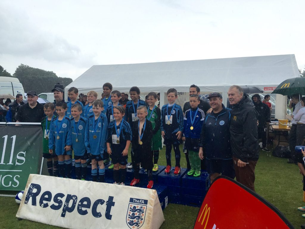 Inspiring a New Generation: Sir Geoff Hurst With WRFC U8s