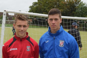 Dan Mahony and Liam Allen of Woking Football In The Community